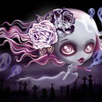 Ghostly Luna Art Prints & Posters by SANDRA VARGAS