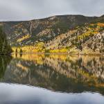 """Colorado Autumn Fishing Lake Reflections"" by lightningman"