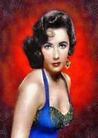 Elizabeth Taylor in a Blue Dress