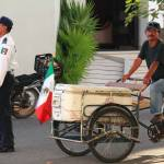 """Street Vendor with Bicycle Cart, Mexico"" by RoupenBaker"