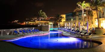 Pool at night, Oyster Bay Beach Resort, St. Maarte