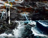 Light House in a Storm