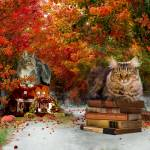 """The Cat Guardians in Autumn"" by AnneVis"