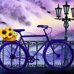 """Bicycle With Basket And Sunflowers"" by IrinaSztukowski"