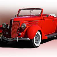 1936 Ford Convertible Coupe Art Prints & Posters by Dave Koontz