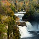 """Three Watefalls at Ausable Chasm Autumn"" by ValeriesGallery"