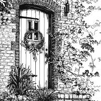 C:\fakepath\Home portrait door for website Art Prints & Posters by Mary Palmer