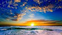 sunset orange blue florida sunset beautiful beach