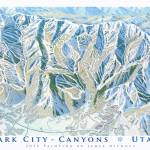 """Park City - Canyons"" by jamesniehuesmaps"