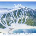 """Big Horn Mountain"" by jamesniehuesmaps"