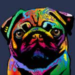 """Pug Dog"" by ModernArtPrints"