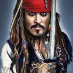 """Johnny Depp as Jack Sparrow"" by MelanieD"