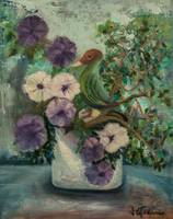 Potted Petunia , Besotted Bird