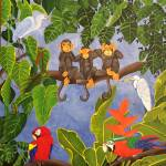 """WISE MONKEYS AT THE HAPPY RAIN FOREST"" by ROFFEART"