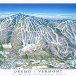 """Okemo 2014 Trail Map Image"" by jamesniehuesmaps"