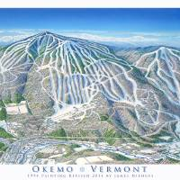Okemo 2014 Trail Map Image Art Prints & Posters by James Niehues