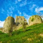 """Corfe Castle - ENG857799"" by rdwittle"