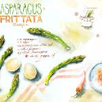 """Asparagus Frittata by Aliona Berengici"" by TheyDrawandCook"
