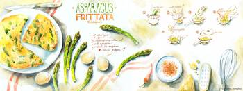 Asparagus Frittata by Aliona Berengici
