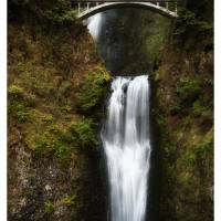 multnomah falls 2 Art Prints & Posters by john gusky