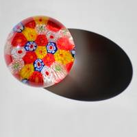 Floral Glass Abstract Square