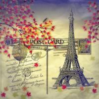 Autumn in Paris Art Prints & Posters by Elizabeth Mix