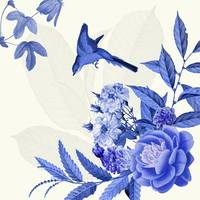 China Flower Blue and white