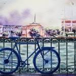 """Bicycle In The City"" by IrinaSztukowski"