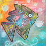 """Psychedelic Fish"" by ArtPrints"