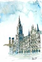 Munich City Hall With Church Of Our Lady