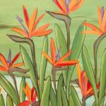 """birds of paradise - botanical - plant"" by traciebrownart"