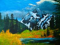 Mt Shucksan Fall painting, WA