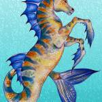 """Seahorse Turquoise"" by artdeep"