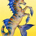 """seahorse yellow"" by artdeep"