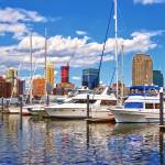 """Liberty Landing Marina Against Jersey City Skyline"" by susansartgallery"