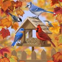 Autumn Aquaintances Art Prints & Posters by Crista Forest