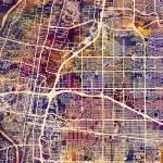"""Albuquerque New Mexico City Street Map"" by ModernArtPrints"