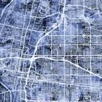 """""""Albuquerque New Mexico City Street Map"""" by ModernArtPrints"""