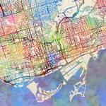 """""""Toronto Street Map"""" by ModernArtPrints"""