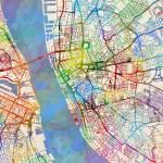 """""""Liverpool England Street Map"""" by ModernArtPrints"""