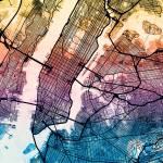 """""""New York City Street Map"""" by ModernArtPrints"""