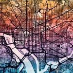 """Washington DC Street Map"" by ModernArtPrints"