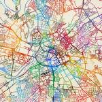 """Manchester England Street Map"" by ModernArtPrints"