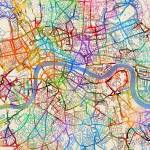"""London England Street Map"" by ModernArtPrints"