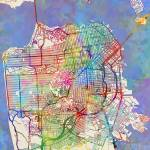 """San Francisco City Street Map"" by ModernArtPrints"