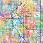 """Denver Colorado Street Map"" by ModernArtPrints"