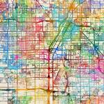 """Las Vegas City Street Map"" by ModernArtPrints"