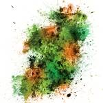 """Ireland Map Paint Splashes"" by ModernArtPrints"