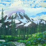 """Spray Park Mt Rainier painting"" by dgolden"