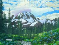 Spray Park Mt Rainier painting